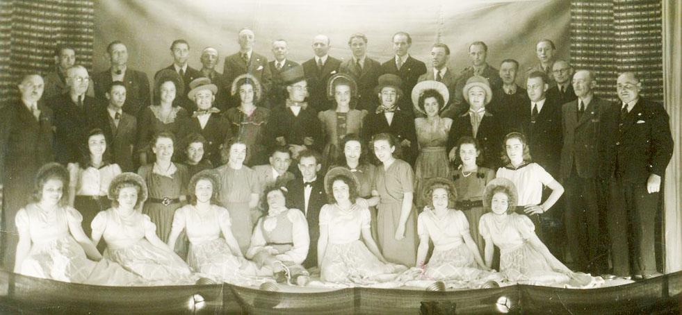 flaruusen groepsfoto vroeger